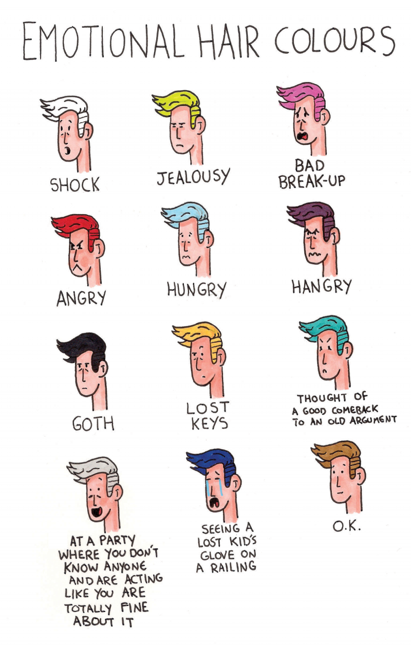 emotional hair colours