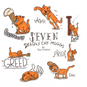 seven deadly cat moods