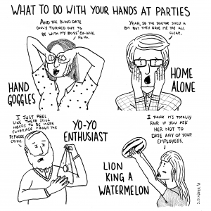 What to do with your hands at parties