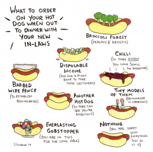 What to order on your hot dog when out to dinner with your new in-laws